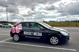 Boxset Media Video Production Agency Car on a self shooting filming day